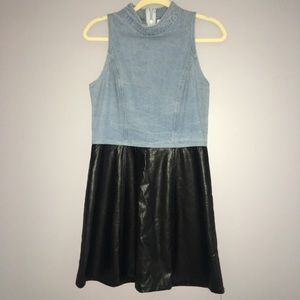 Casual denim and leather boutique dress
